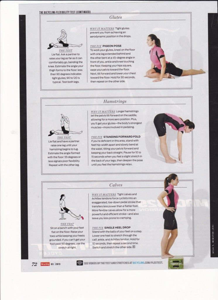 Bicycling Flexibility Test & Exercises 2/2