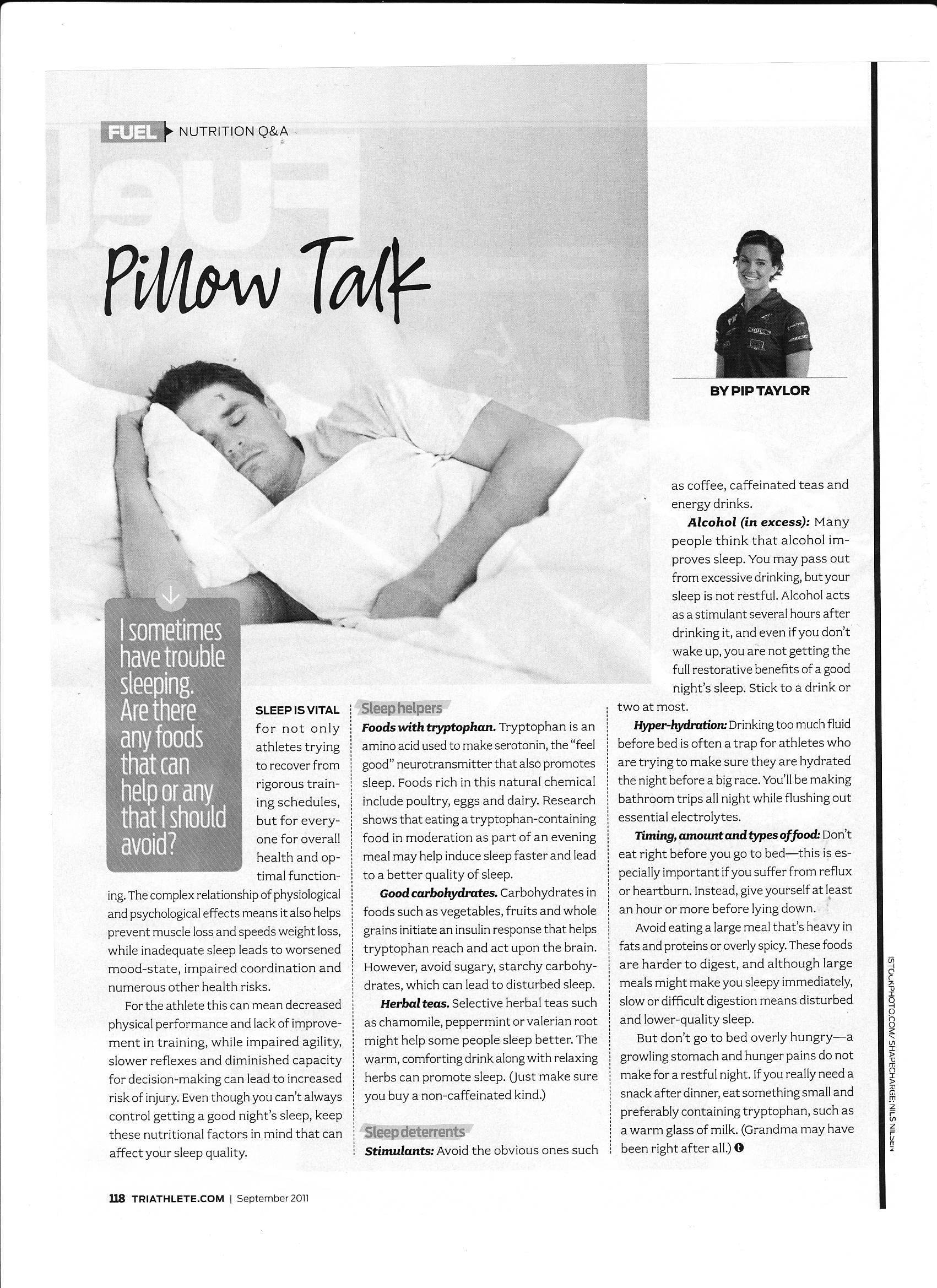 Sleep and Training